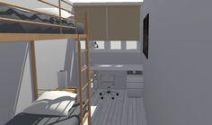 vista de dormitorio secundario