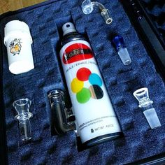 Our #MX #Krylon can looking nice and cozy in our man @cone_crusher travel kit!!! #DoTheMath  #Mathematix #MxKrew #710 #420 #Dab #Dabs #DabLife #Stoners #Smokers #Cannabis #CannabisCommunity #Glass #DoYouDab #DabbersDaily #Calimade #AmericanMade  #GlassArt #Graffiti #StreetArt #SprayCan #Trypophobia