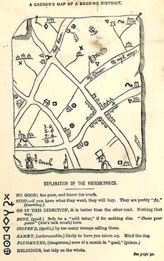 Hobo map - I have heard of these but never saw one before. Interesting time in our history.