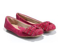 Sapatilha Couro Pedrarias Pink Toda Comfort (Ref: 7121) http://www.sapatilhashop.com.br/sapatilha-toda-comfort-1.html
