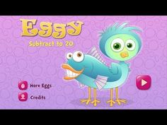 Build your child's subtraction skills with Eggy Subtract to 20! Compatible with iPad and iPhone, the fun-filled interactive app features 6 fun games that make learning and practicing subtraction enjoyable for 4-7 year olds. Click on the video to learn more.