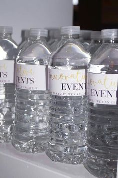 Personalised waterbottles used for wedding expos