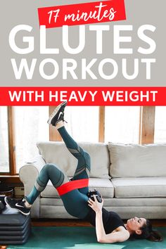 Heavy glutes workout - target your glutes with this workout using heavy dumbbells Home Exercise Routines, At Home Workout Plan, Workout Routines, Workout Plans, Hip Workout, Workout Videos, Dumbbell Workout, Workout Women, Kettlebell