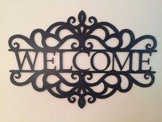 Metal Welcome Art Tall by x Wide, by Thick! Gauge) Steel, not Thin Tin or Sheet Metal Sheet Metal Art, Metal Wall Art, Vintage Industrial Furniture, Industrial Table, Metal Welcome Sign, Personalized Metal Signs, Family Wall Decor, Pipe Furniture, Furniture Design