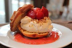 Strawberry, cream cake