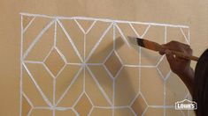 How to Create a Faux Hand Painted Tile Backsplash ... this is pretty in the finished room look, but i'd love to try something in a herringbone style...and check out the stencil aisle in the craft store for ideas! this would take awhile, but doing a few at a time, and not trying to do it all at once would make it fun and not a chore.