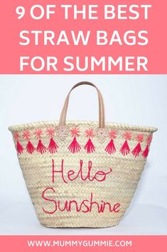 Are you looking for the perfect straw bag for this summer, for the beach or a holiday? then look here are 9 of the best straw bags for the summer. Cool Slogans, Slogan Tshirt, Parenting Toddlers, Hello Sunshine, New Parents, Tween, Toddler Boys, Rainbow Colors, Straw Bag