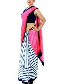 Half and Half Sari – StylishMob