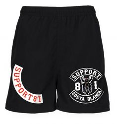 Support 81 Hells Angels Sport Shorts Biker black