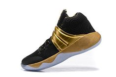 Kyrie 2 Basketball Sneakers Mens Outdoor Breathable Athletic Shoes Black Gold US95 >>> Read more reviews of the product by visiting the link on the image. Note: It's an affiliate link to Amazon