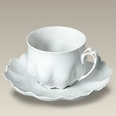 Made of fine Czech porcelain, this 8 oz. cup and saucer matches the classic Pirkenhammer tea set) and is great for tea or coffee drinkers. The tall cup and saucer has a distinguished sc… Coffee Cups And Saucers, Cup And Saucer Set, Tea Cup Saucer, Clear Coffee Mugs, Tea Website, Childrens Tea Sets, Pink Tea Cups, Turkish Coffee Cups, Breakfast Cups