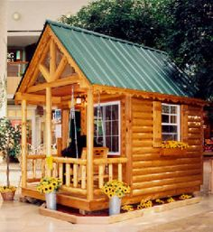 log cabin playhouse - my husband told me he would build me my own log cabin in our backyard....I sent him this pic so he could get started ;o)  haha....my own place to escape to and read!  *sigh*