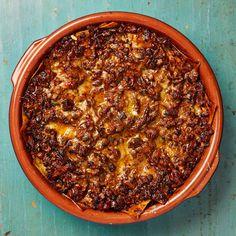 Yotam Ottolenghi's lasagne recipes - chard, spinach and hazelnuts, seafood & feta, spicy pork & porcini. Yotam Ottolenghi, Ottolenghi Recipes, Lasagne Recipes, Pasta Recipes, Cooking Recipes, Healthy Recipes, Meat Recipes, Moussaka, Penne Arrabiata