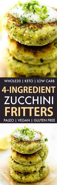 4 Ingredient Zucchini Fritters - Moma Food
