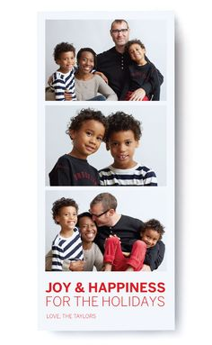 Modern Triptych: Photo Holiday Card