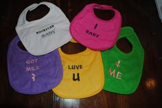 Custom  Baby Bibs by Nameitgotit on Etsy, $3.00