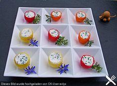 Gefüllte Tomaten mit cremigem Frischkäse