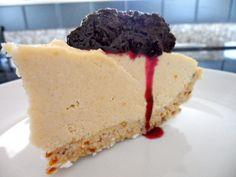 "How to Make Dairy-Free Blueberry Cheesecake:  ""If you're doing your body good by avoiding pasteurized dairy products but you miss eating cheesecake, you'll want to give this delicious dairy-free, all-raw, blueberry cheesecake recipe a try.    The ""cheese"" in this cheesecake is made with raw, organic cashews, and the crust is made with a combination of macadamia nuts, dates, and dried coconut. This cheesecake requires some work, but it's definitely worth the effort!"""