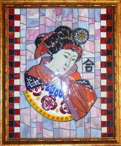 Мозаика стеклянная настенная ручной работы / Mosaic glass wall handmade