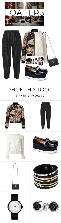 """Fall Footwear Trend: Loafers"" by shortyluv718 ❤ liked on Polyvore featuring Miss Selfridge, DKNY, Isabel Marant, Napoleon Perdis, Karl Lagerfeld, Yves Saint Laurent, Bling Jewelry, loafers, contestentry and polyvorecontest"