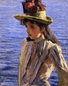 Girl at the Lake by Pietro Troubetzkoy, 1889