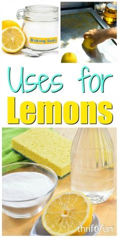 There are many benefits of lemons. You can cook with them, use lemons to clean the microwave, and use lemon juice on your face. Get more ideas for how to use lemons around the house in this guide, 20 uses for lemons.