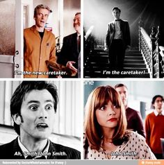 8x06 The Caretaker - Caretaker, John Smith repeats - 12th Doctor, 10th, 11th, Clara Oswald, Doctor Who