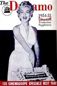 1954-1955: The Dynamo (USA) magazine cover of Marilyn Monroe .... #marilynmonroe #normajeane #vintagemagazine #pinup #iconic #raremagazine #magazinecover #hollywoodactress #1950s