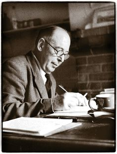C.S. Lewis writing at his desk - This is an interview covering the C.S. Lewis in Poets' Corner memorial project. Along with comments from Malcolm Guite and Alister McGrath who are both speaking at the event, It includes instructions Michael Ward, the lead organiser for the project, on how to register for the event and how to donate to the project.
