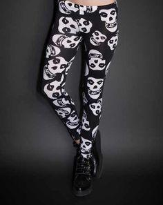 Misfits face leggings