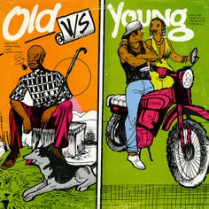 VARIOUS ARTISTS - Old Vs Young - UJAMA 1987 JA  ///  WILFRED LIMONIOUS