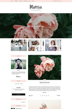 Responsive Blogger Template -Marissa by Georgia Lou Studios on @creativemarket #ad