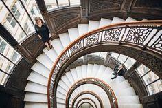 The-Rookery-Chicago-spiral-merdiven