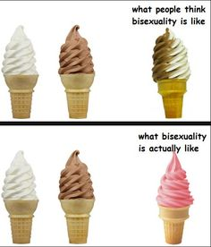 Pretty much! (Now I want ice cream...)   #bipride#bisexual#bi#bisexualpride#lgBt