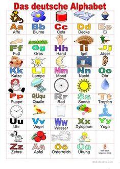 Willkommen auf Deutsch - Alphabet Abc Poster, Animal Alphabet, Goblin Kdrama Quotes, Basic French Words, Das Abc, Best Carry On Bag, Burgundy Lipstick, Bear Felt, Alphabet Pictures
