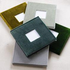 Handmade velvet photo albums - 7x7 inches www.velvetraptor.com