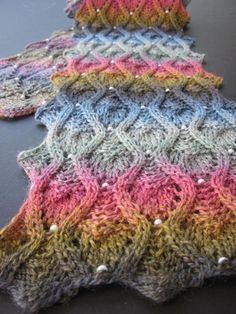 Peek-a-Bead Scarf Pattern - Knitting.
