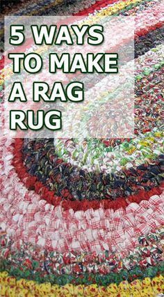 Sewing Projects 5 Ways to Make a Rag Rug Rag Rug Diy, Diy Rugs, Toothbrush Rug, Rag Rug Tutorial, Braided Rug Tutorial, Braided Rag Rugs, Homemade Rugs, Rug Loom, Sewing Projects