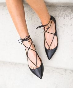 I love the lace up flats! I'm looking for tan/brown or neutral of them