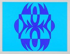 Blue Notan paper project