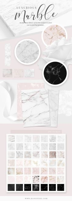 Marble textures for branding, blogging and design. Find a marble background to suit your design work with classic stone, rose gold, blush, black, silver and more. Find The Ultimate Stylish Textures pack on Creative Market.