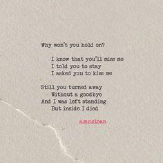 Poem ...Inside I died  #109