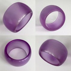 This is a pretty vintage jello Lucite 1960s bangle. It is a gorgeous transparent lavvender purple color. The bangle is made from a high quality genuine 1960's Lucite. The DuPont Company began commercial production of Lucite in 1936. Lucite is a strong, transparent thermoplastic. Lucite is clear in color but it can be tinted with any color, in this case lavender purple. Measurements: inside opening 2-1/2 inches, width 2 inches and thickness 1/4 inch. In very good condition.