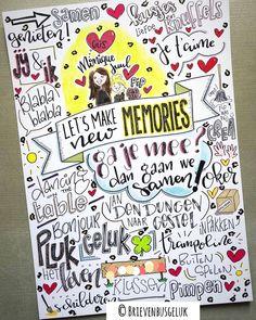"""Brievenbusgeluk op Instagram: """"• Let's make new memories • . Monique verhuisde onlangs samen met dochter Juul en hondje Pip naar een nieuw huis. En in dat nieuwe huis…"""" Doodle Coloring, Poster Colour, Diy Decoration, Diy Cards, Doodle Art, Experiment, Doodles, Calligraphy, Drawings"""