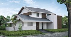 斬新な雰囲気の和モダンの家|一戸建て木造注文住宅の住友林業(ハウスメーカー) Villa Design, Facade Design, Exterior Design, Interior And Exterior, House Design, Japanese Modern, Japanese House, Japan Architecture, Architecture Design