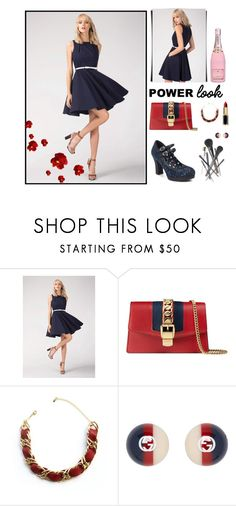 """dots 3"" by pea-presov on Polyvore featuring Closet London, Ruby Shoo, Gucci and Joe Fresh"