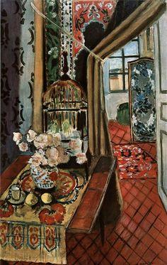 """Henri Matisse """"Flowers and Parakeets"""", 1924 (France, Expressionism / Fauvism, cent. Henri Matisse, Matisse Art, Matisse Pinturas, Art Fauvisme, Matisse Paintings, Modernisme, Art Et Illustration, Illustrations, Art Moderne"""