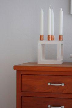 Schöner Kerzenleuchter aus Holz angelehnt an den Design Klassiker by Lassen