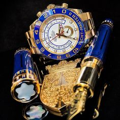 Blue and Gold That's the Combination  Yachtmaster II $27500  DM or Email to Buy