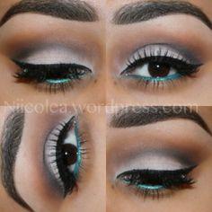 Eyeshadow for Brown Eyes -Blue Liner